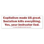 Socialism Kills Sticker (Bumper)