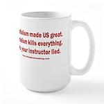 Socialism Kills 15 oz Ceramic Large Mug