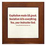 Socialism Kills Framed Tile
