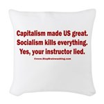 Socialism Kills Woven Throw Pillow