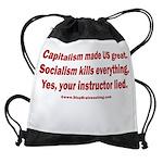 Socialism Kills Drawstring Bag