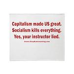 Socialism Kills Throw Blanket