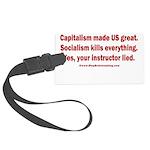Socialism Kills Large Luggage Tag