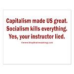 Socialism Kills Small Poster
