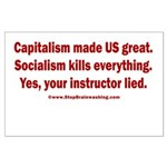 Socialism Kills Large Poster