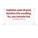 Socialism Kills Banner
