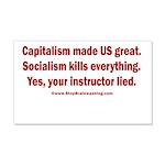 Socialism Kills 20x12 Wall Decal