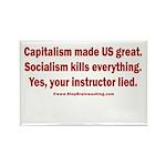 Socialism Kills Rectangle Magnet