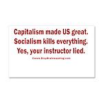 Socialism Kills Car Magnet 20 x 12