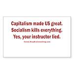 Socialism Kills Sticker (Rectangle)