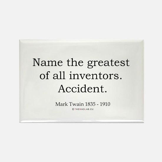 Mark Twain 3 Rectangle Magnet