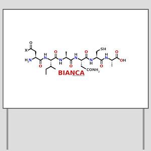 Bianca name molecule Yard Sign