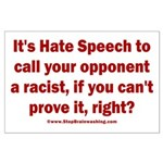Racism Weapon Large Poster