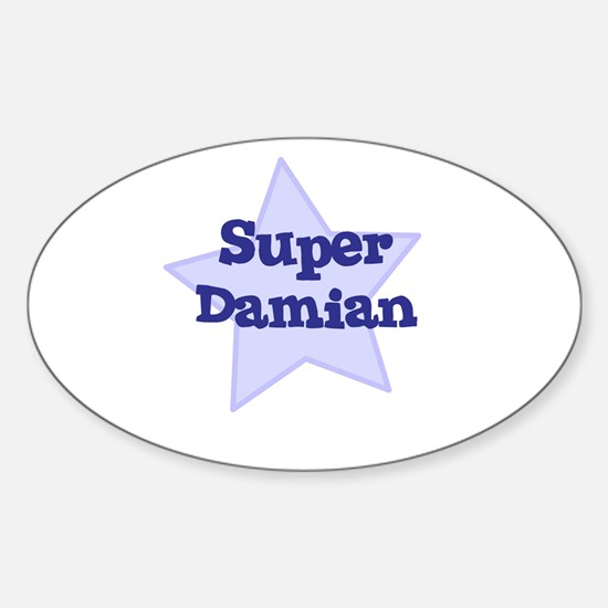 Super Damian Oval Decal