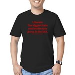 Liberals Hate More Men's Fitted T-Shirt (dark)