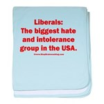 Liberals Hate More baby blanket