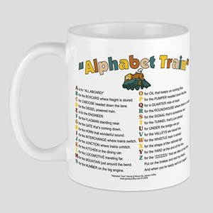 AlphabetTrainALLMetal Mugs