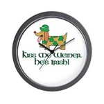 Kiss Me Weiner dog Wall Clock