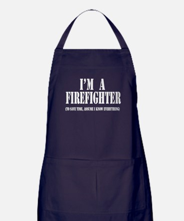 I'm A Firefighter- Dark Apron (dark)