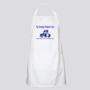 Police Protects Lives-Grandpa Apron