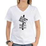 Signs Women's V-Neck T-Shirt
