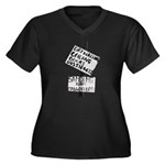 Signs Women's Plus Size V-Neck Dark T-Shirt