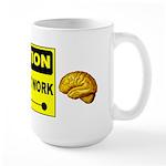 Large Caution Mug
