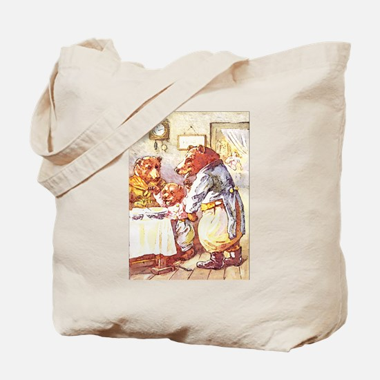 Three Bears Tote Bag