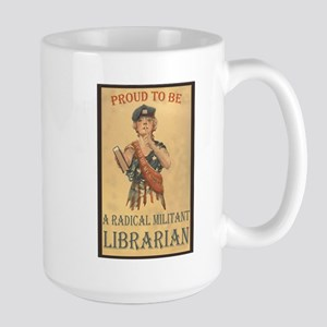 Radical Militant Librarian Large Mug