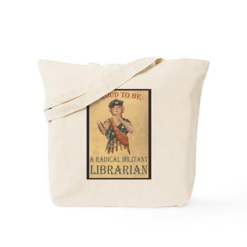 Radical Militant Librarian Tote Bag