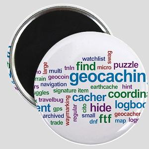 Geocaching Word Cloud Magnet