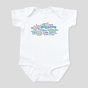 Geocaching Word Cloud Infant Bodysuit
