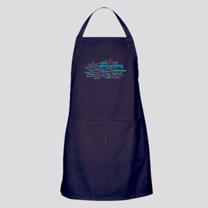 Geocaching Word Cloud Apron (dark)