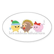 Let's Celebrate Oval Sticker