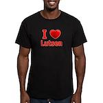 I Love Lutsen Men's Fitted T-Shirt (dark)