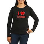 I Love Lutsen Women's Long Sleeve Dark T-Shirt
