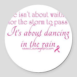 Dancing in the Rain Round Car Magnet