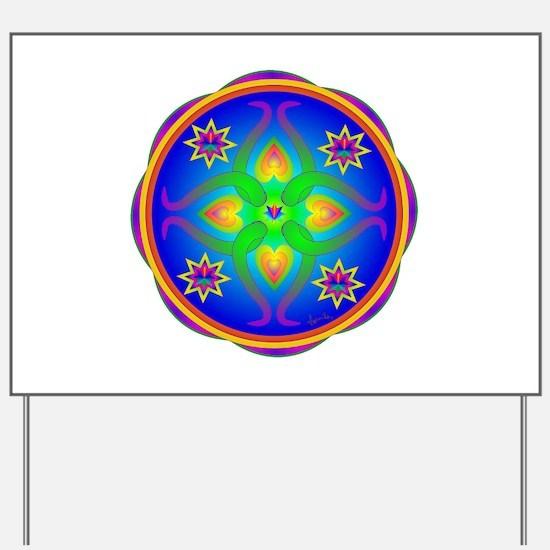 Healing Mandala Yard Sign