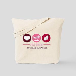 Isle Esme - Love, Beach and F Tote Bag