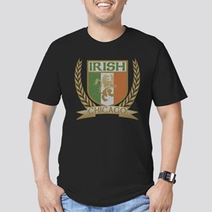 Chicago Irish Crest Men's Fitted T-Shirt (dark)