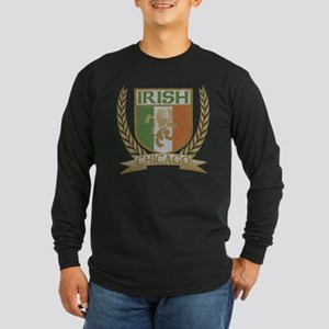 Chicago Irish Crest Long Sleeve Dark T-Shirt