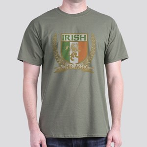 Chicago Irish Crest Dark T-Shirt