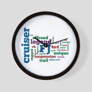 FJ Cruiser word cloud Wall Clock