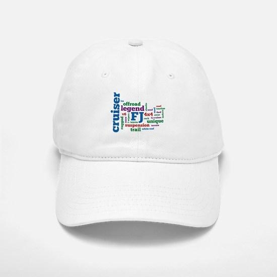 FJ Cruiser word cloud Baseball Baseball Cap