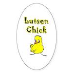 Lutsen Chick Oval Sticker (10 pk)