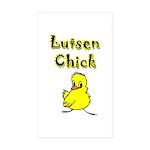 Lutsen Chick Rectangle Sticker 50 pk)