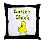 Lutsen Chick Throw Pillow