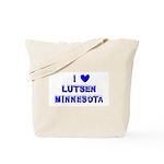 I Love Lutsen Winter Tote Bag