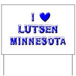I Love Lutsen Winter Yard Sign
