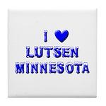 I Love Lutsen Winter Tile Coaster